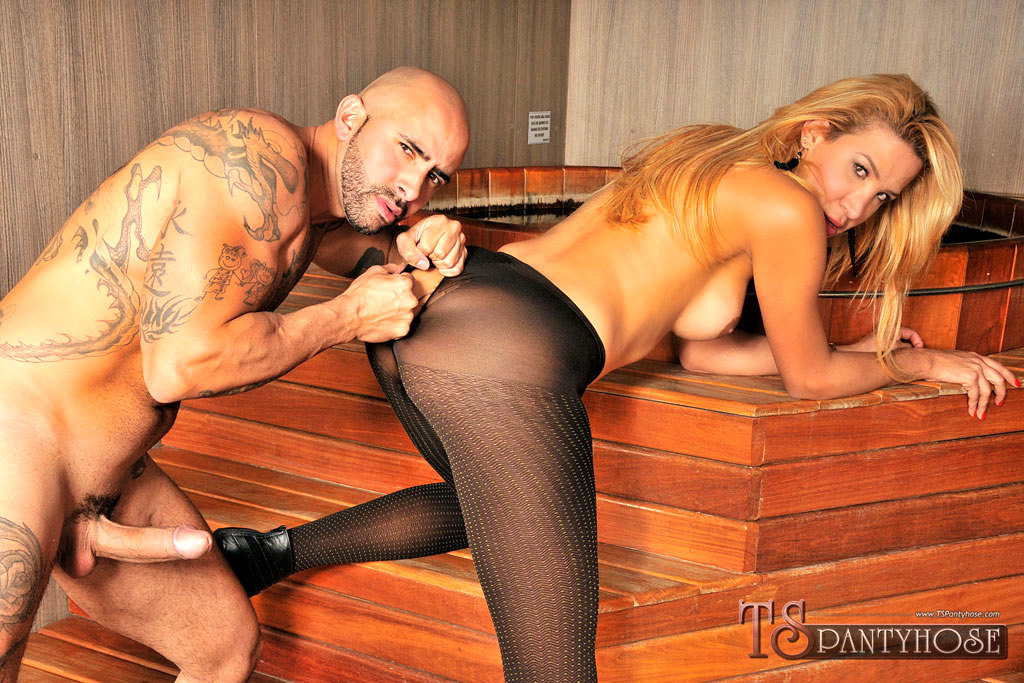 Amazing Blonde T-Girl Action With Beatriz