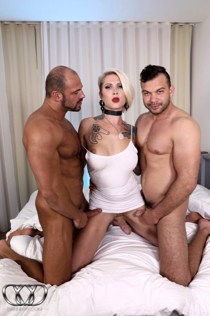Danni Gets Ravaged By Two Big Dicks Fighting Over Who Destroys Which Hole First