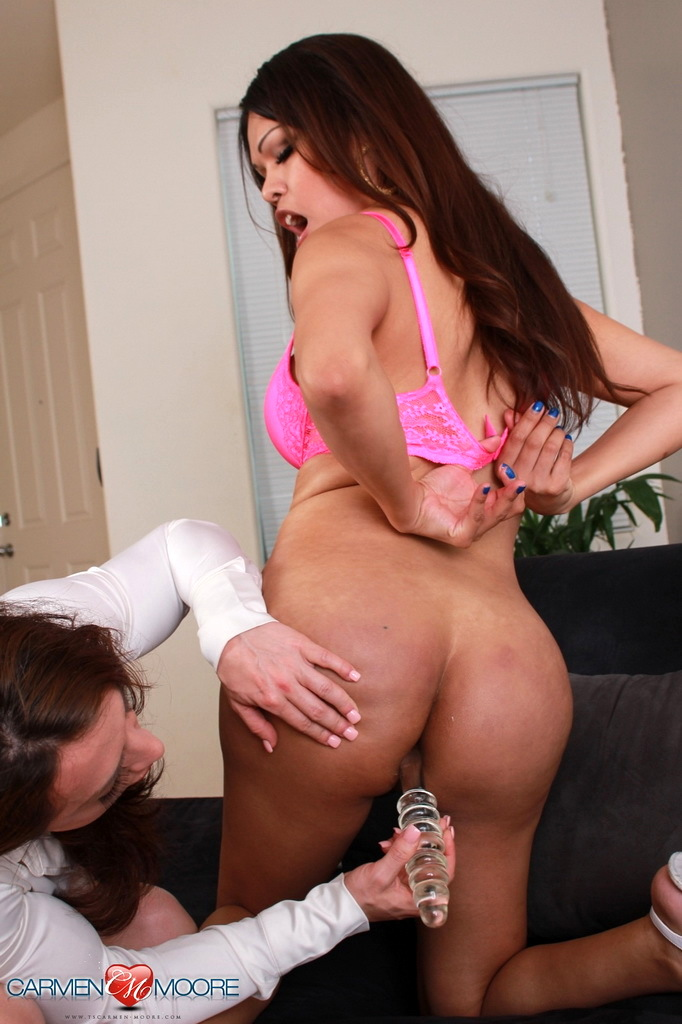 Naughty TS Carmen Banging With An Agent