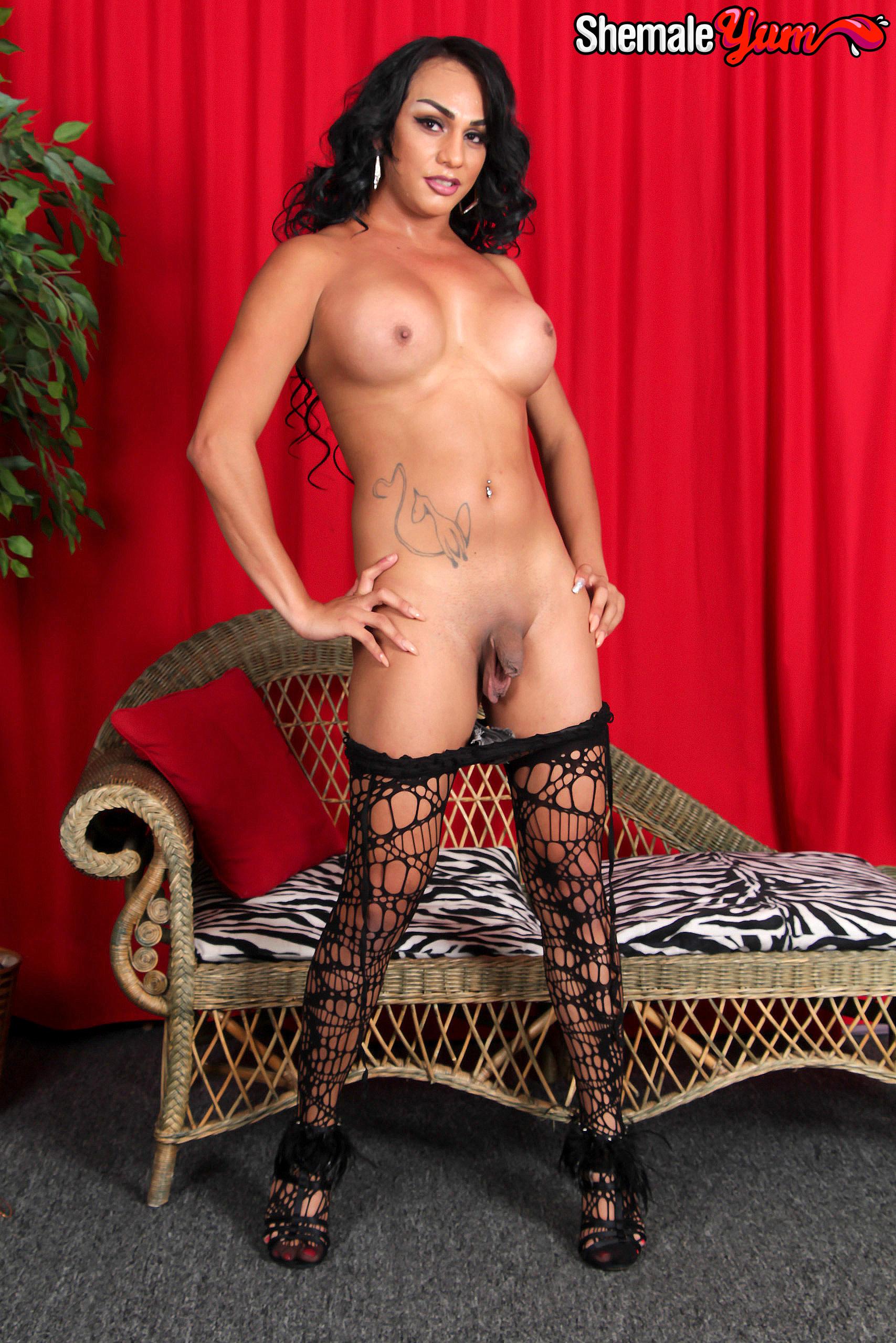 Sensuous Latina T-Girl Christine!