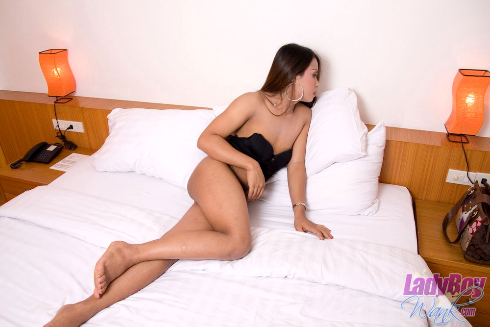 Shy And Innocent T-Girl Ooy Shares Her Erect Sensuous Dick