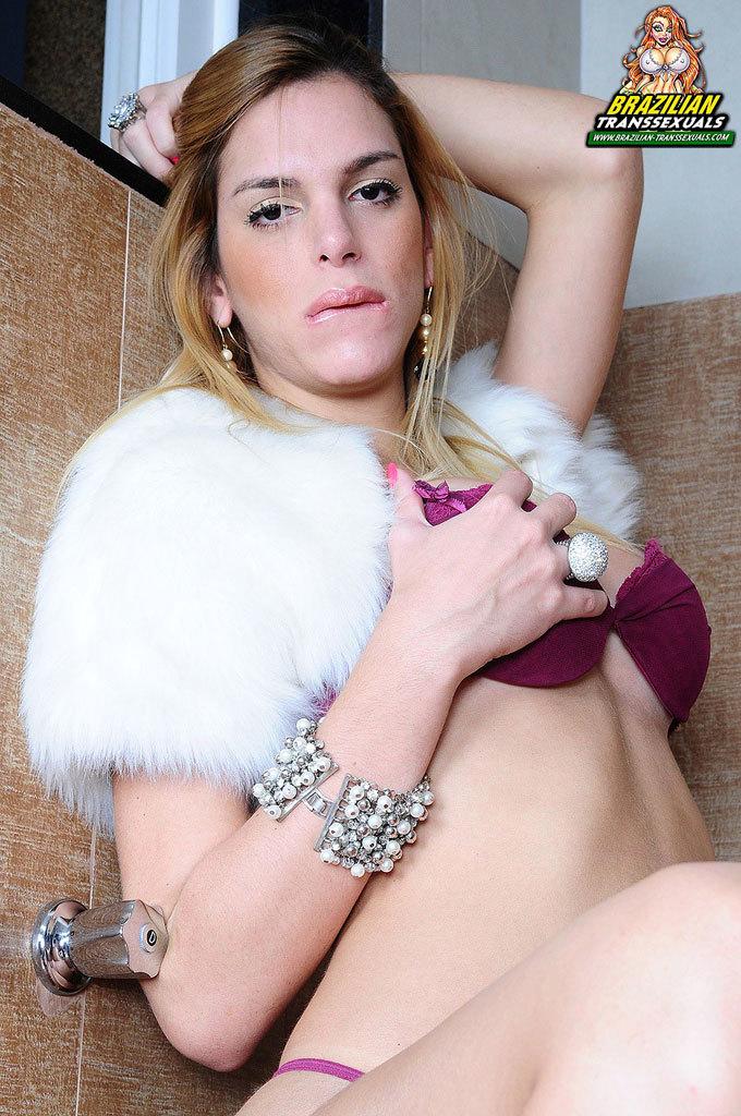 Smoking Sexy Latin Ladyboy Masturbating