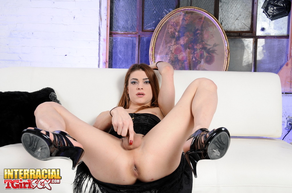 Starved Transexual Kimberly Sitting On A Enormous Dildo
