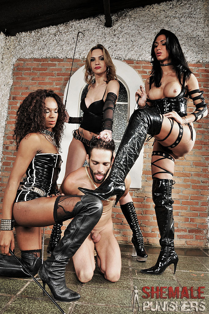 T-Girl Domme Adelaide, Cybelli And Jennifer In Action.