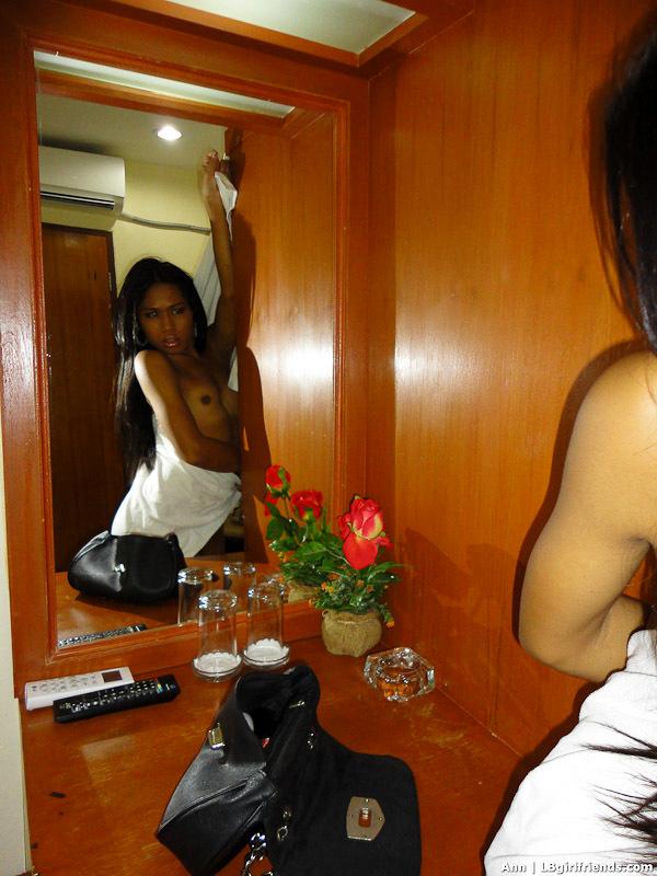 Tgirl Ann Has A Kissable Dark Body And Sensuous Bikini Tanlines