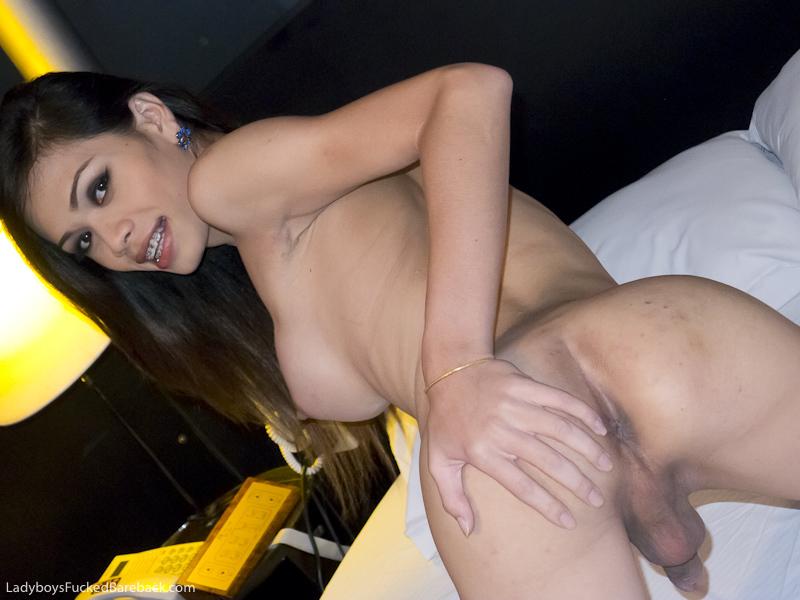 Tgirl Wicky Barebacked In Short Time Room By Huge Dick