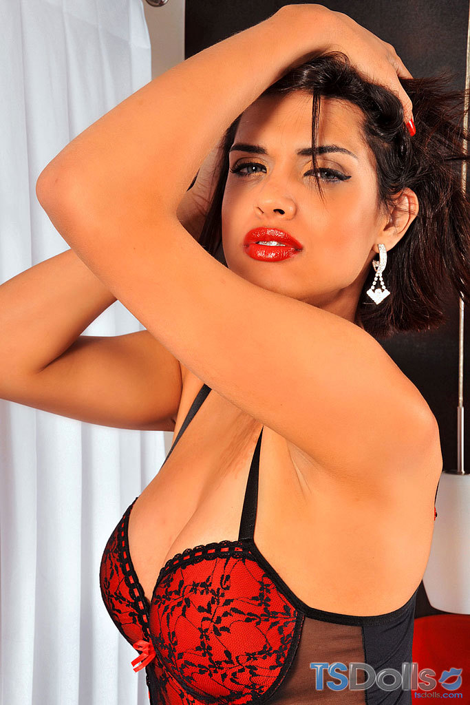 Thayna Louzada In Sensual Red Lingerie