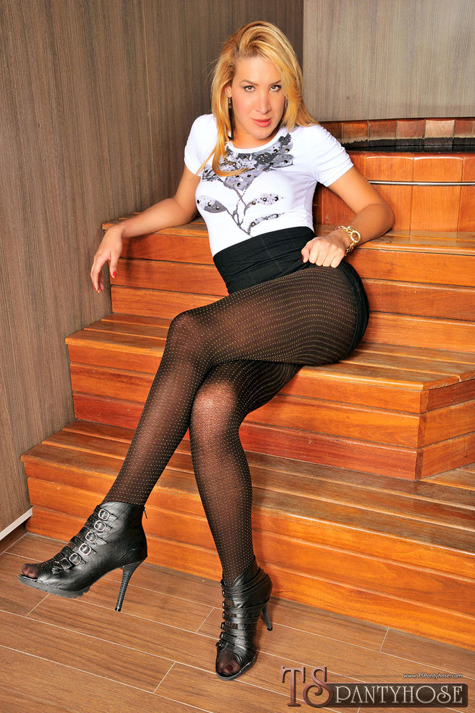 Transexual Bent Over On The Stairs And Dicked