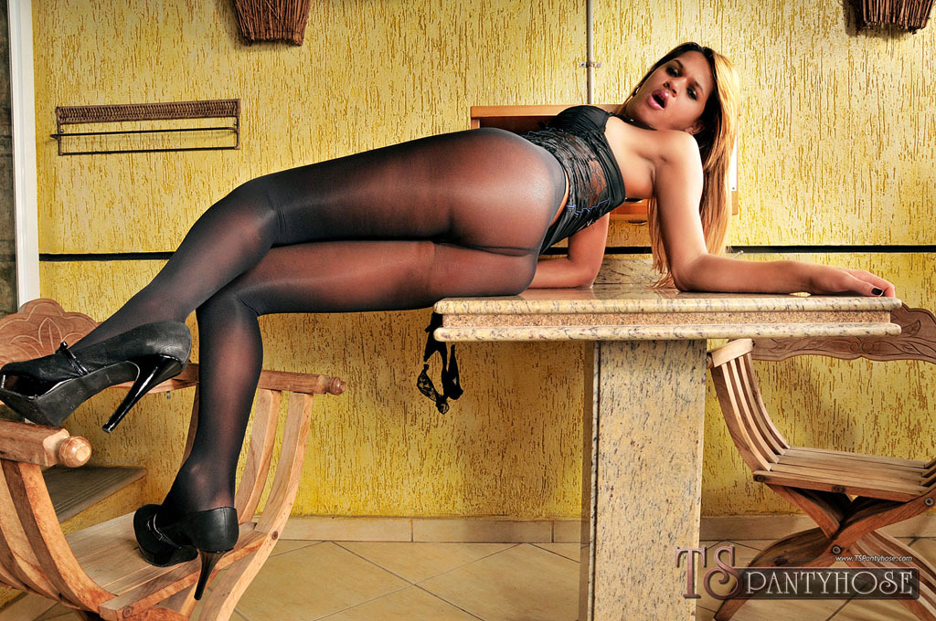 TS Bianca Alves Gets Smashed In Pantyhose