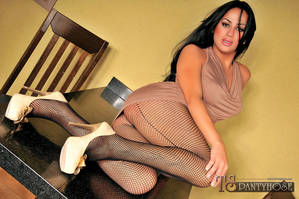 TS Pantyhose Clad Cutie Getting Destroyed