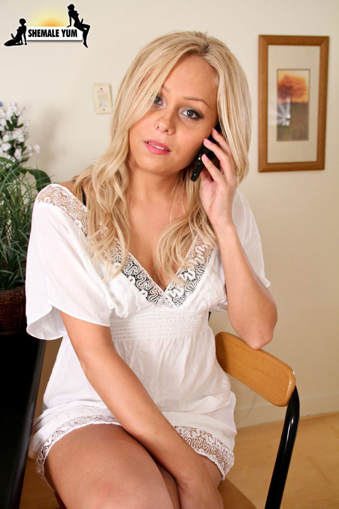 Blonde Tgirl Smashed Rough