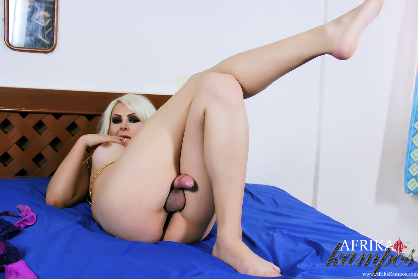 Caucasian Ts Afrika Kampos Doggie Style Showing Off Her