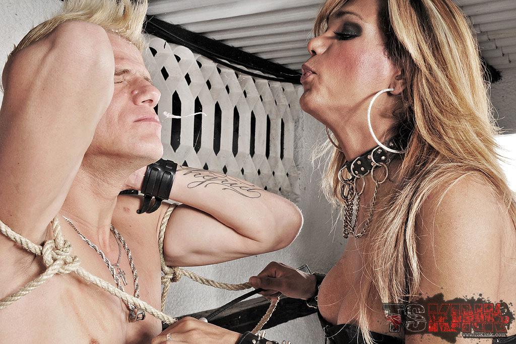 Dominant Femboy Treats Her Slave Bad