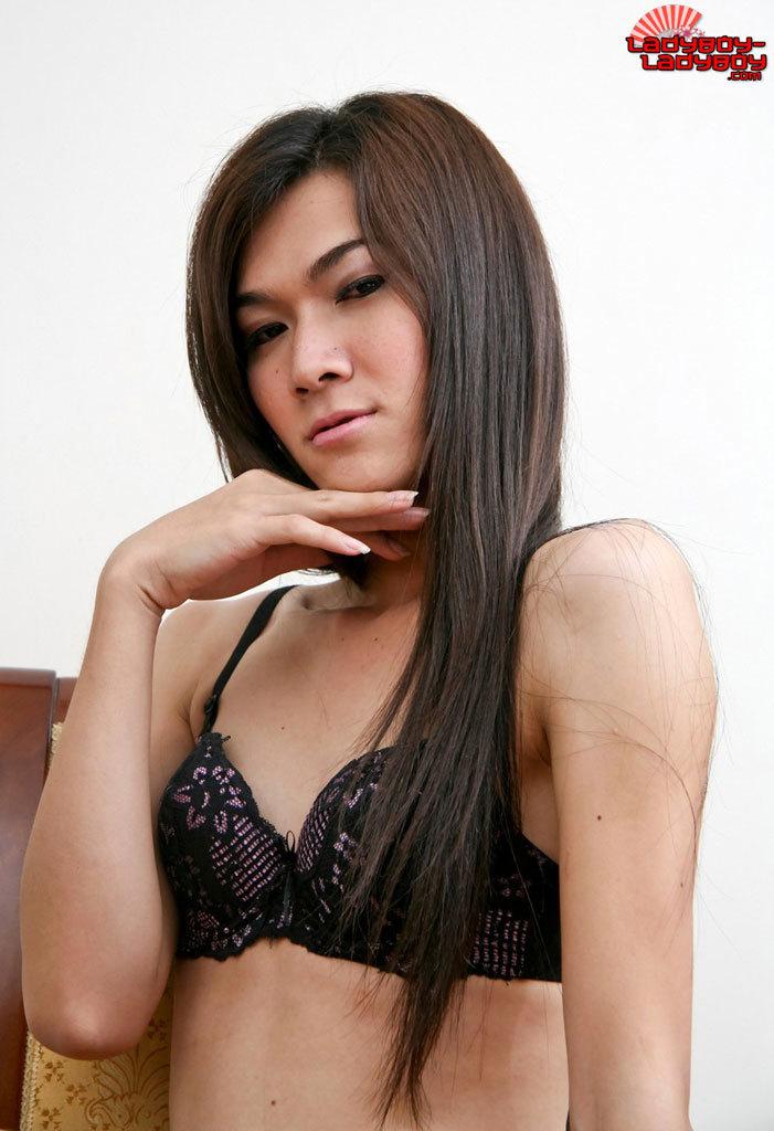 Flirtatious T-Girl Stripping!