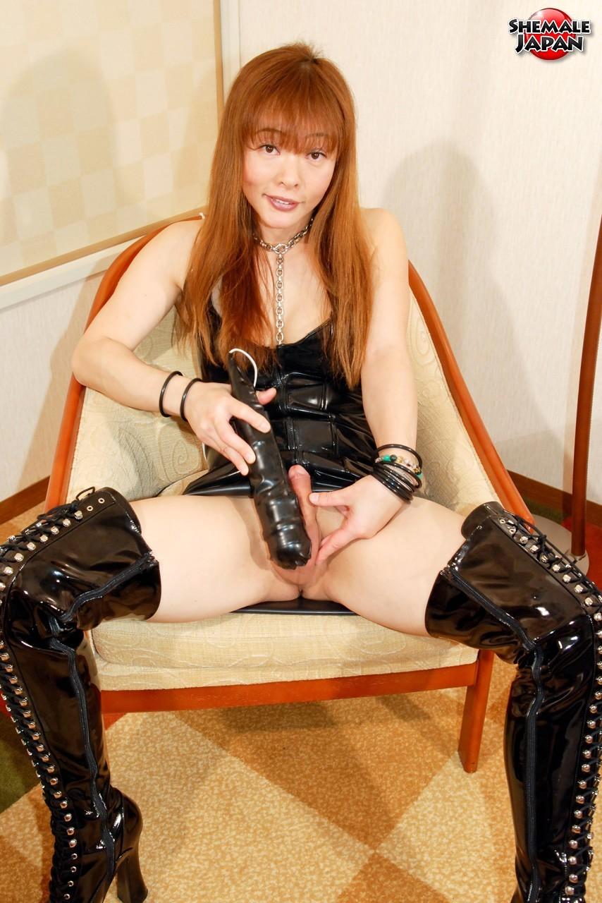 Japanese Ladyboy Tsugumi Is A True Freak. She Is A Sex Addic