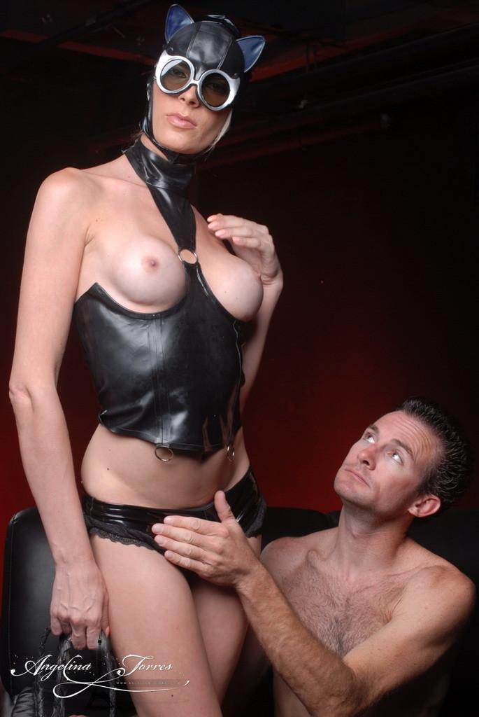 TS Catwoman Angelina Fuck's A Dude